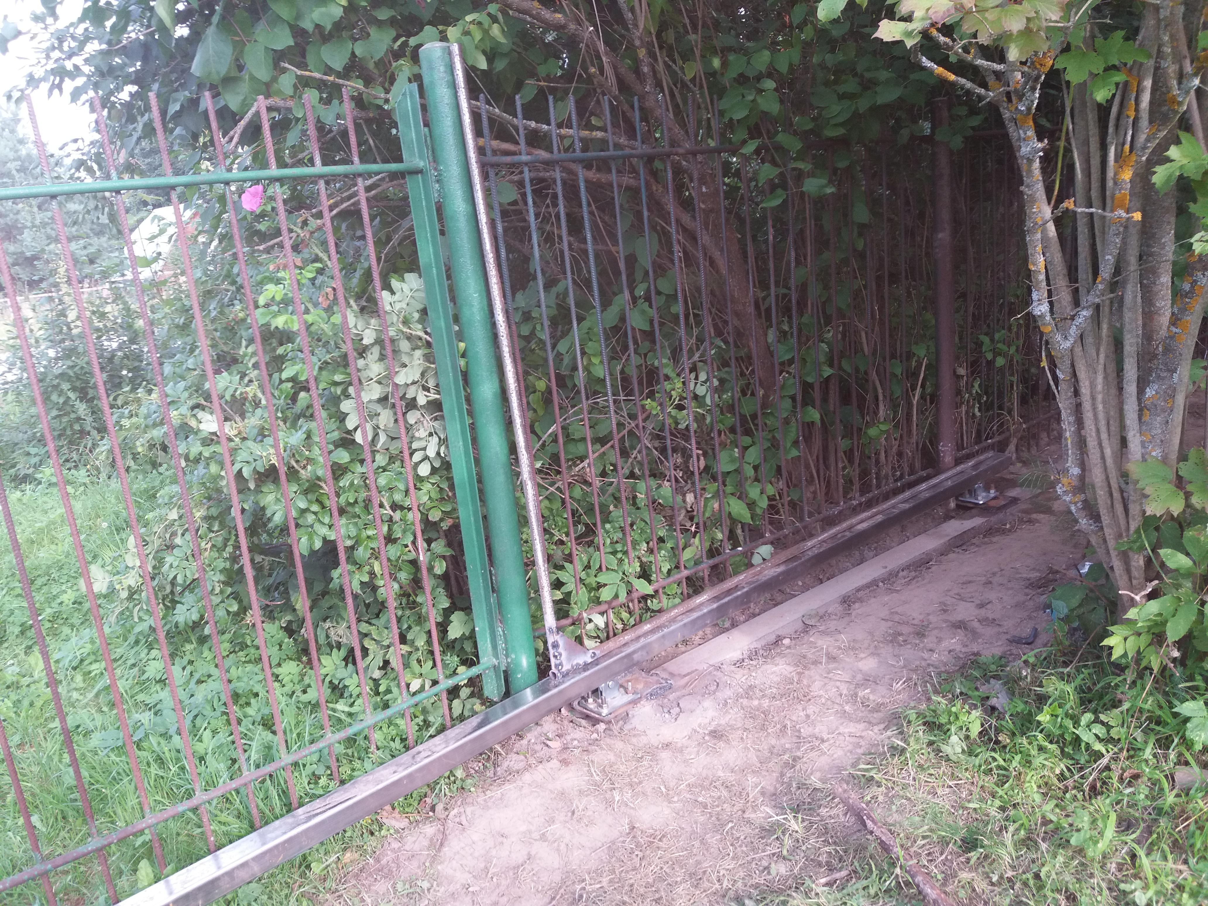 Откатные ворота на основе готового комплекта фото 8